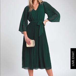 Lulus Pine green midi